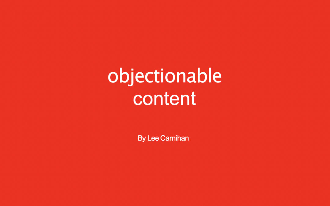 Objectionable Content: How to improve your customer's experience and your online sales