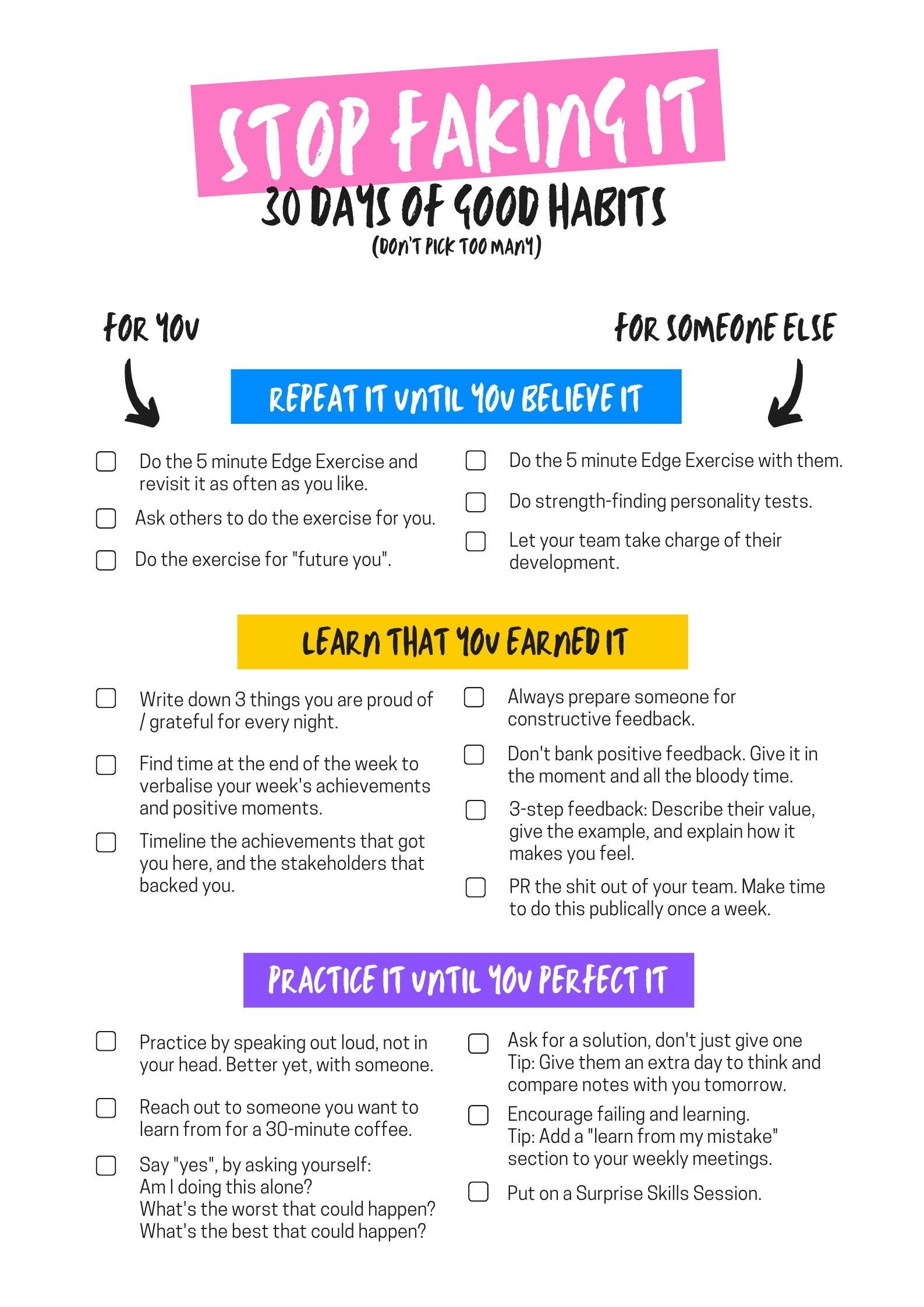 30 Days of Good Habits Challenge